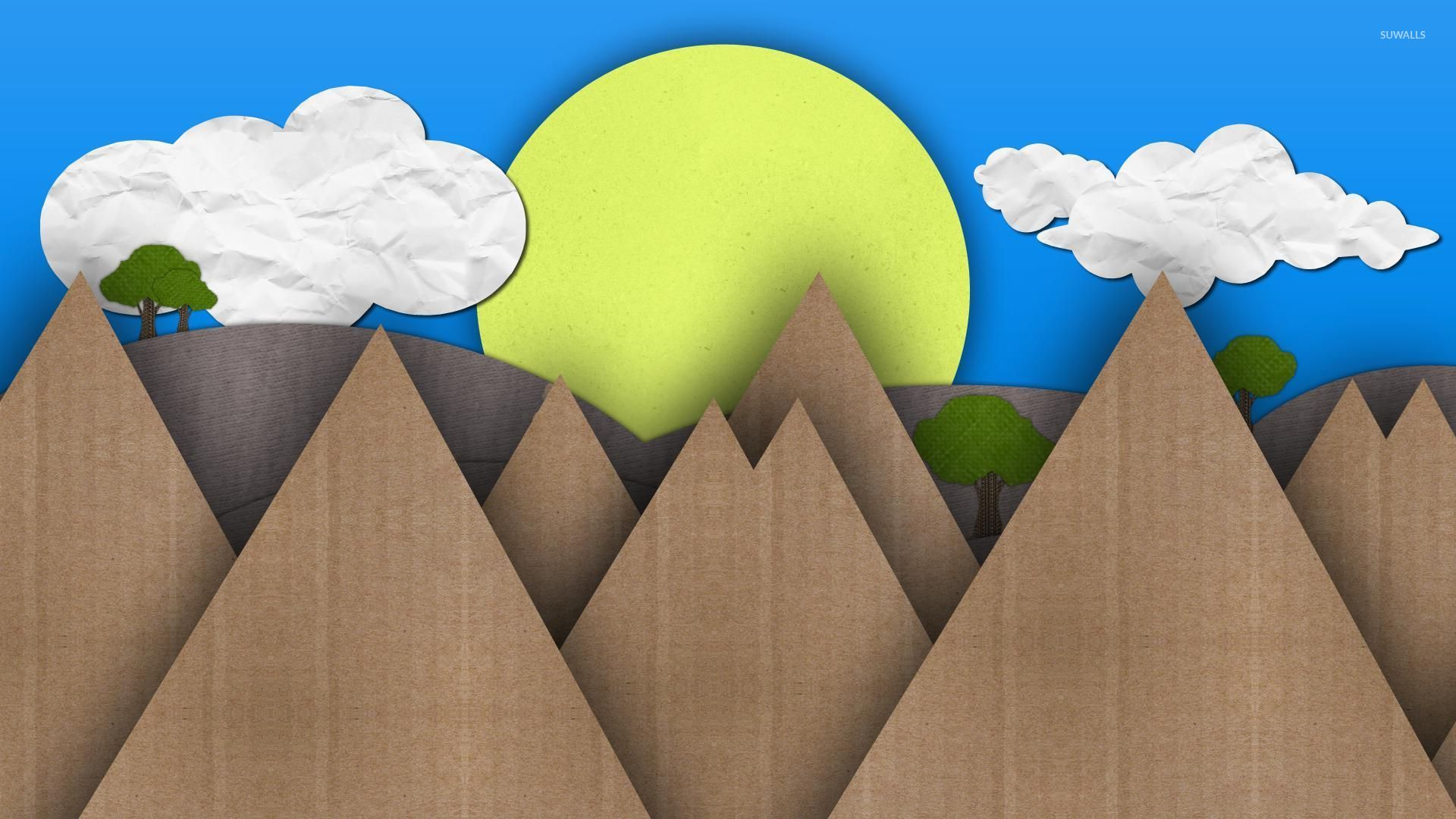 Top Wallpaper Mountain Simple - sun-and-mountains-made-from-cardboard-50767-1920x1080  HD_707989.jpg