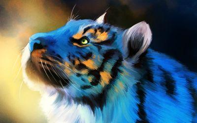 Tiger painting wallpaper