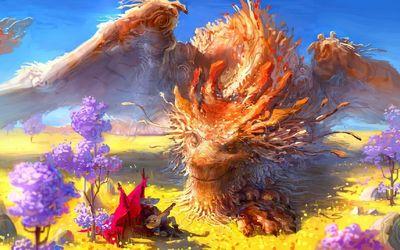 Traveller enchanting the dragon wallpaper
