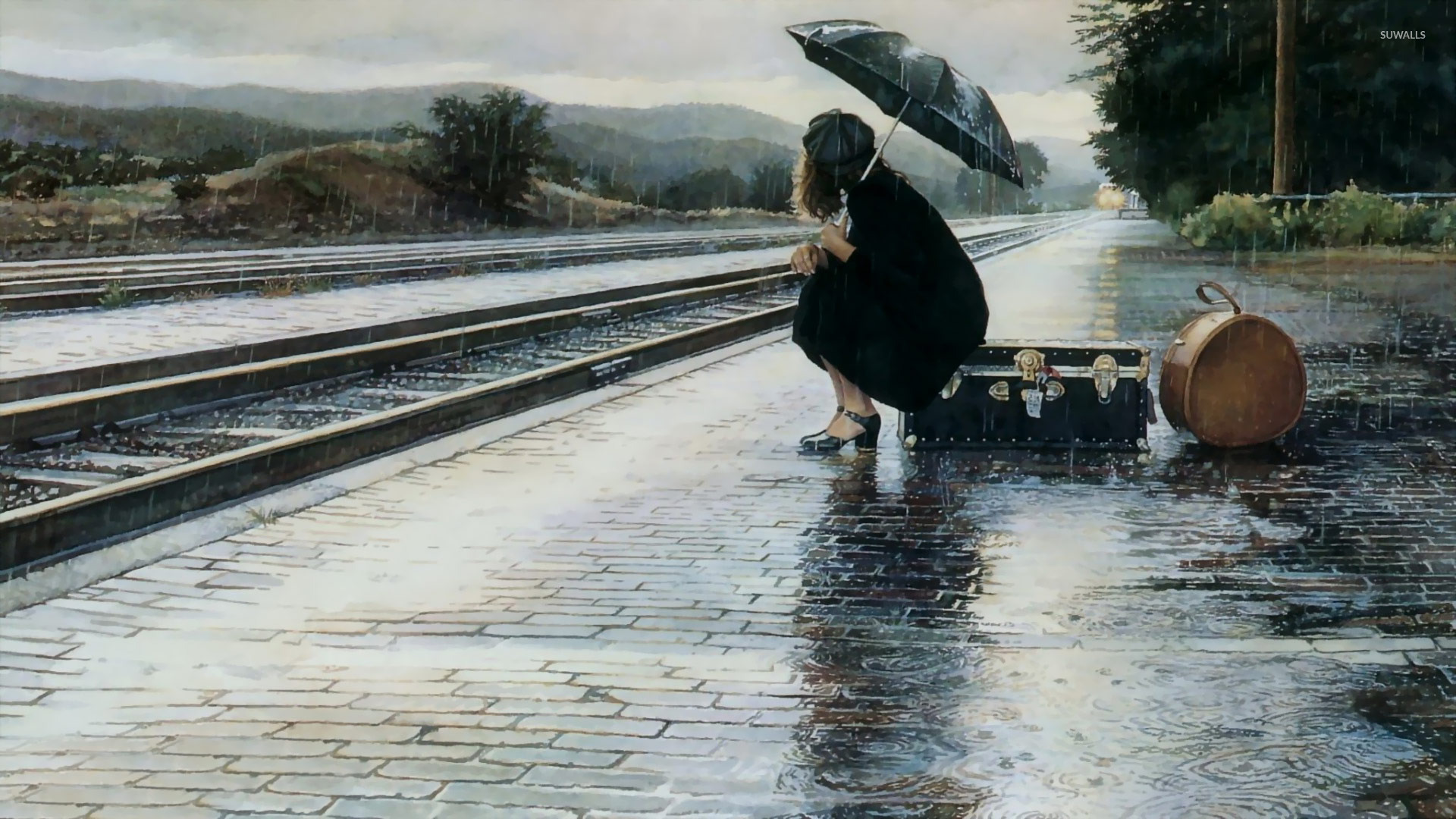 Rain Wallpaper 1920x1080