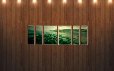 Waves under spotlight wallpaper