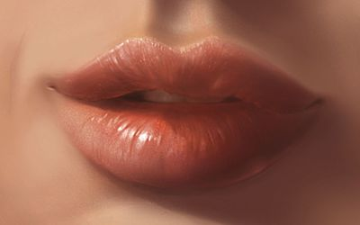 Woman's lips wallpaper