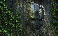 Wooden mask wallpaper 1920x1200 jpg