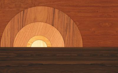 Wooden shapes wallpaper