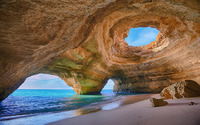 Algarve caves, Portugal wallpaper 1920x1200 jpg