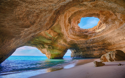 Algarve caves, Portugal wallpaper