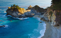 Amazing water in Julia Pfeiffer Burns State Park wallpaper 2880x1800 jpg