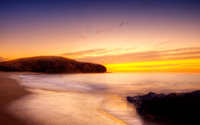 Beautiful golden sunset over the ocean wallpaper 2560x1600 jpg