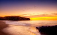 Beautiful golden sunset over the ocean wallpaper 2560x1600 jpg