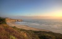 Beautiful ocean view from the high shore wallpaper 1920x1080 jpg
