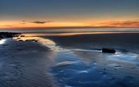 Beautiful twilight over a sandy beach wallpaper 1920x1200 jpg