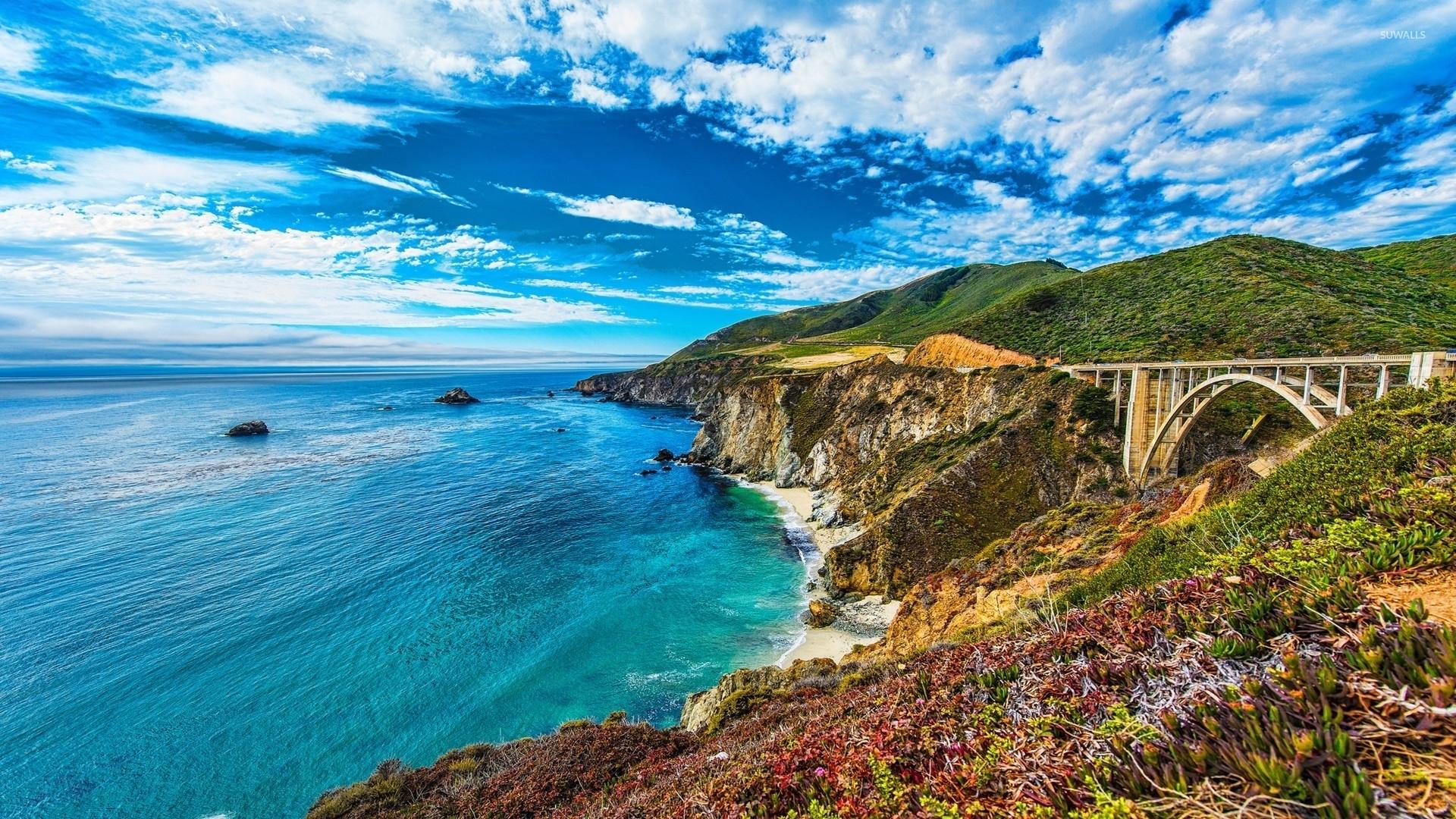 Bixby Creek Bridge Big Sur California 4K Desktop Wallpaper