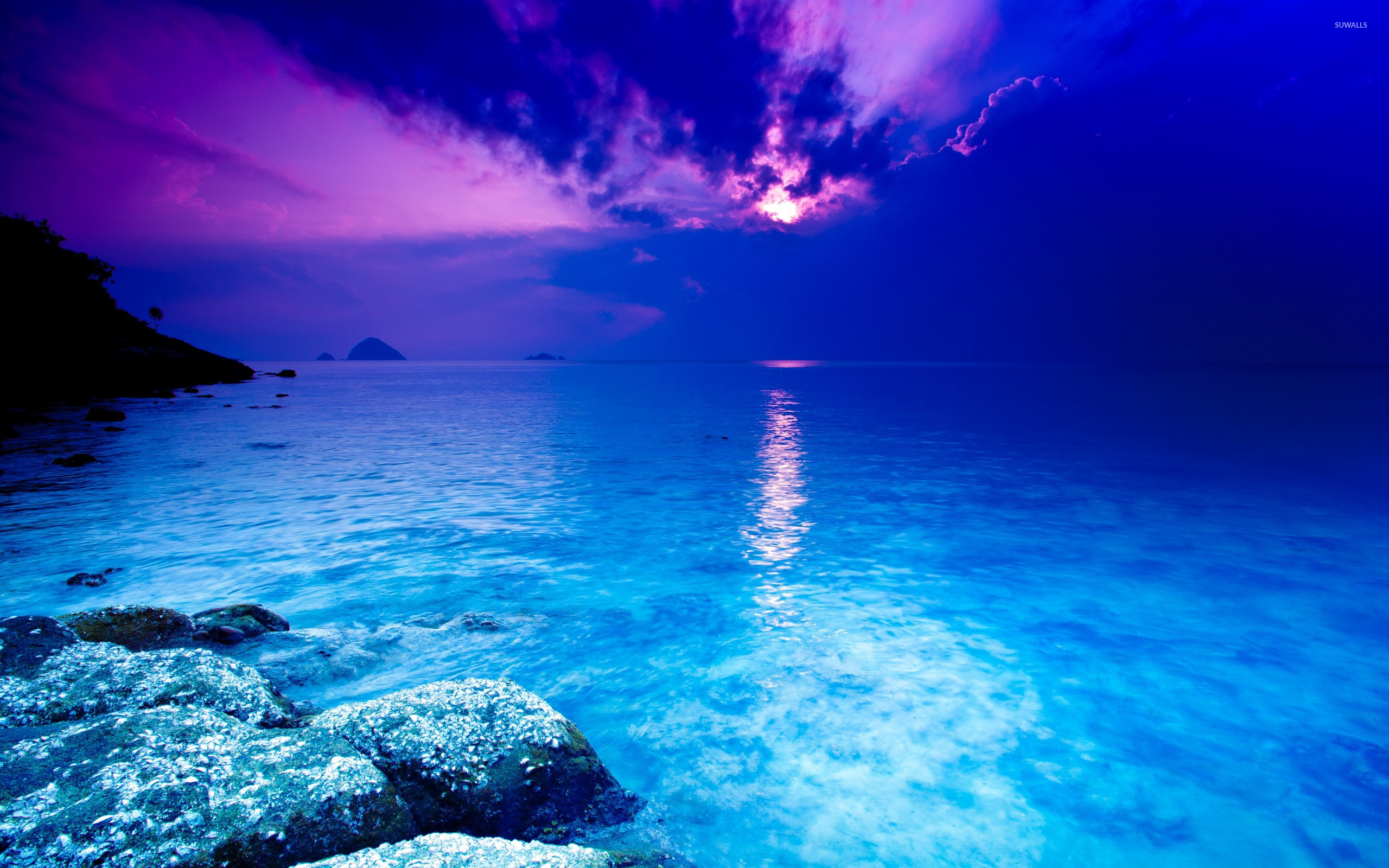 blue sea wallpaper - beach wallpapers - #22407