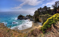 Bright sun warming Julia Pfeiffer Burns State Park wallpaper 1920x1200 jpg
