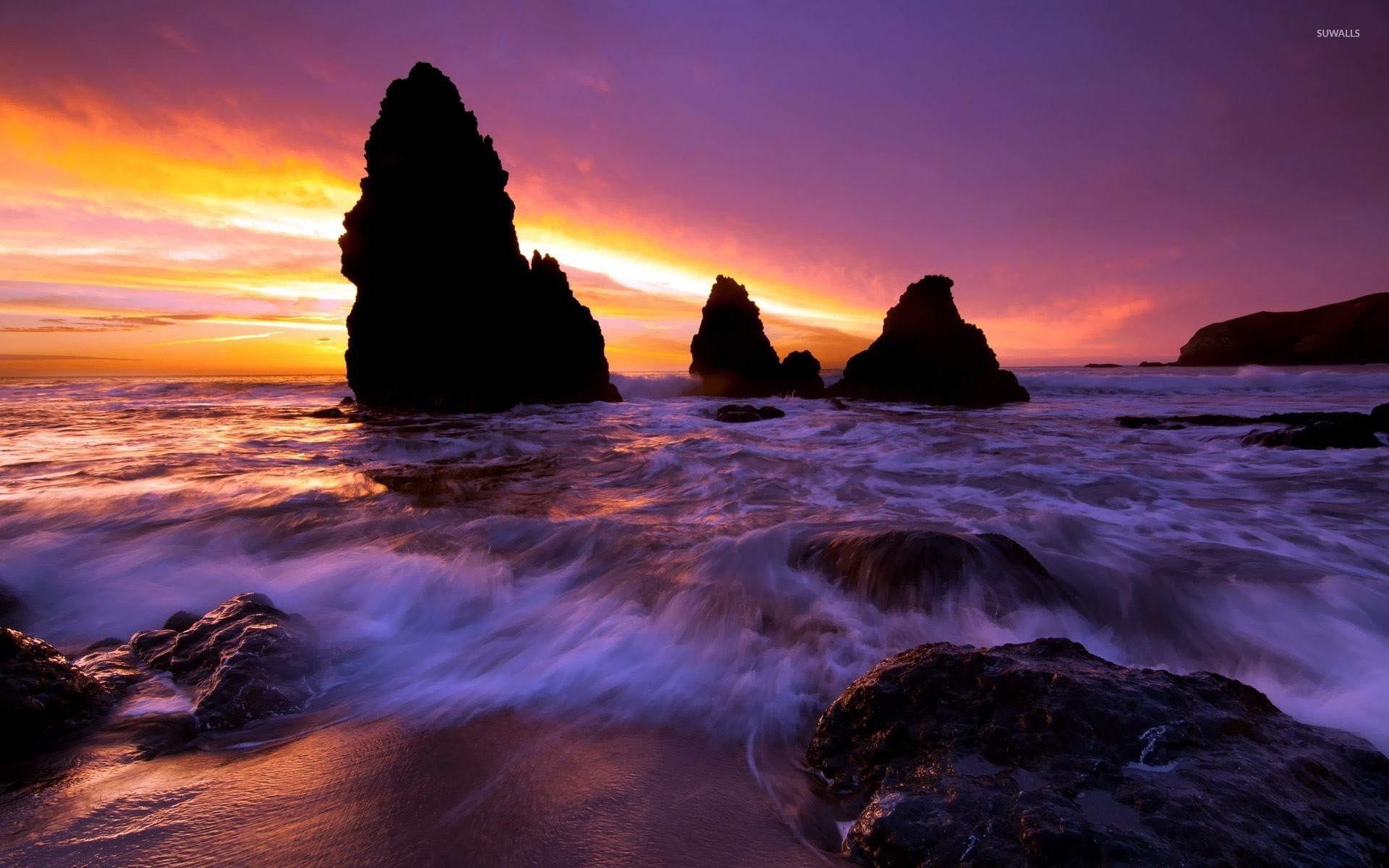 Californian Coast Wallpaper Beaches USA California
