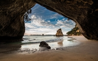 Cathedral Cove wallpaper 1920x1200 jpg
