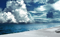 Clouds brewing above the ocean wallpaper 1920x1200 jpg