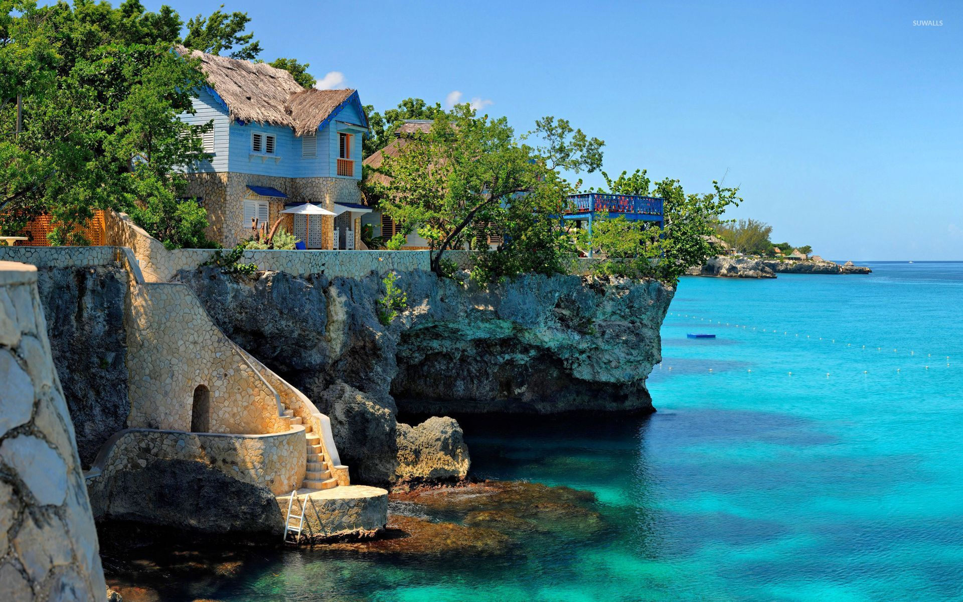 Coastal House In Negril Jamaica Wallpaper