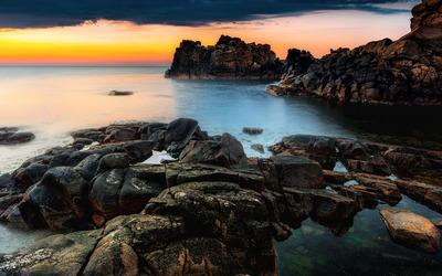 Coastal sunset wallpaper
