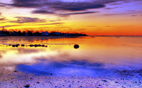 Colorful sunset on the coast wallpaper 1920x1080 jpg