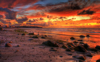 Firey dusk sky wallpaper 2560x1600 jpg