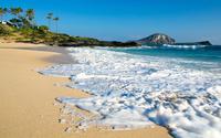 Foamy sandy beach wallpaper 1920x1080 jpg