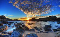 Golden sunset above the sea wallpaper 1920x1080 jpg