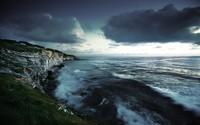 High rocky shore at the ocean wallpaper 2560x1600 jpg