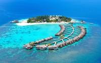 Island resort in Maldives wallpaper 1920x1200 jpg