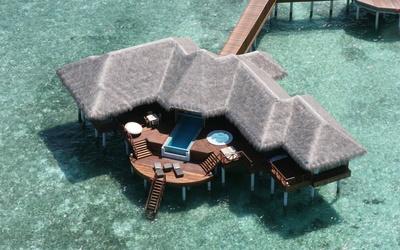 Maldives hut wallpaper