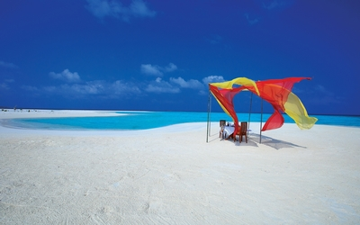 Maldives sandy beach wallpaper