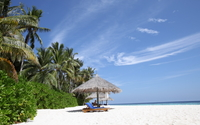 Maldives sandy beach [2] wallpaper 3840x2160 jpg