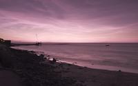 Ocean purple sunset wallpaper 1920x1200 jpg