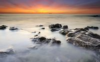 Peaceful ocean water at sunset wallpaper 1920x1200 jpg