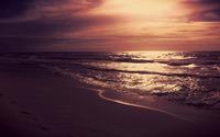 Purple sunrise at the beach wallpaper 1920x1080 jpg