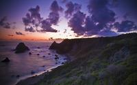 Purple sunset at the coast wallpaper 2560x1600 jpg