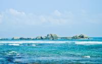 Rocks in the blue sea wallpaper 1920x1200 jpg