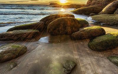 Rocky beach [7] wallpaper