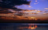 Sailboat under the dusk sky wallpaper 1920x1200 jpg