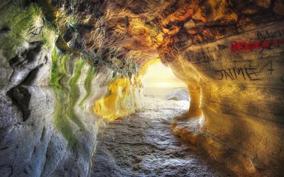 Sea cave wallpaper