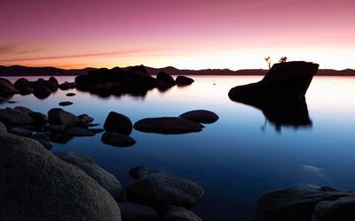 Shore at dusk wallpaper