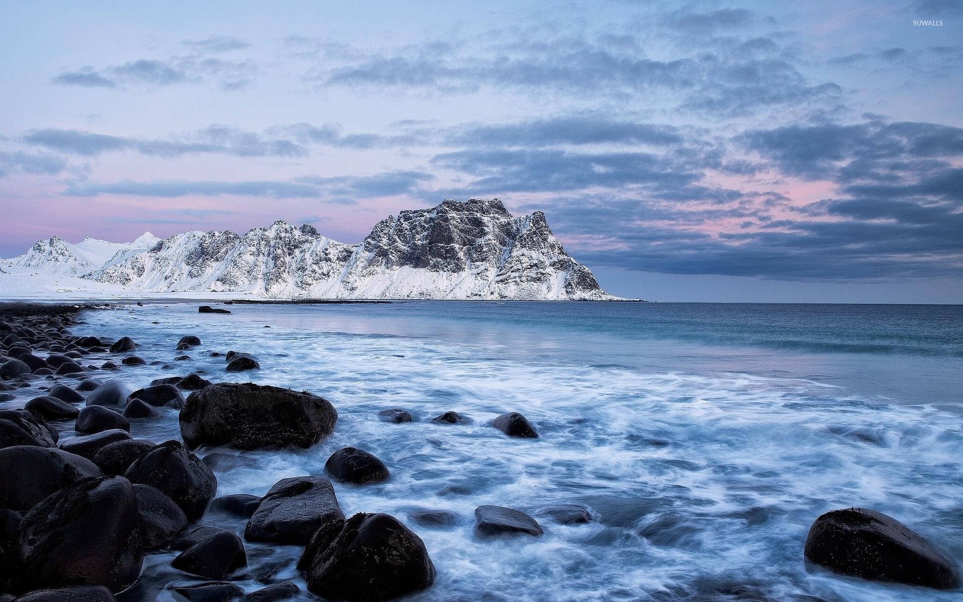 Fantastic Wallpaper Mountain Beach - snowy-mountain-peak-in-the-ocean-36727-1920x1200  Gallery_44328.jpg