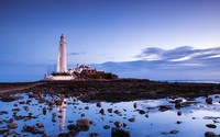 St. Mary's Lighthouse wallpaper 1920x1080 jpg