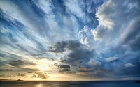 Stormy clouds above the ocean at sunset wallpaper 1920x1200 jpg