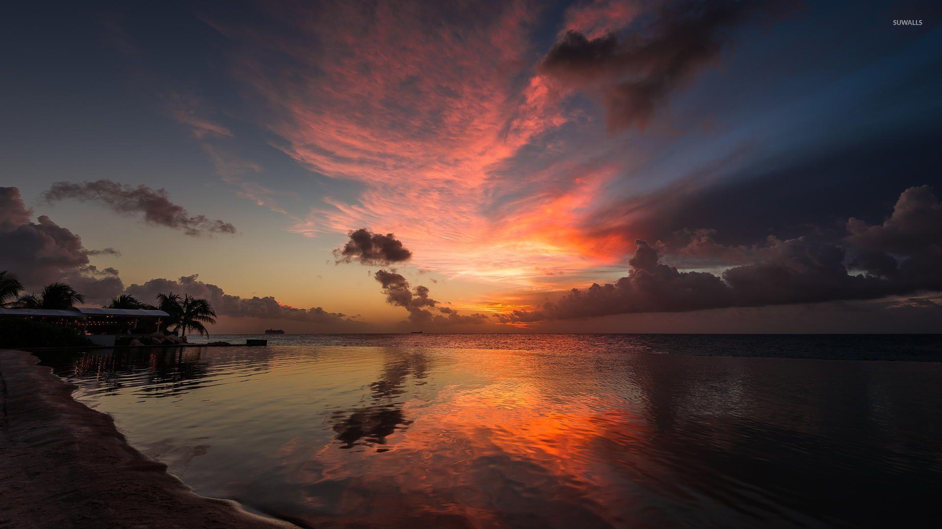 sublime ocean sunset wallpaper - beach wallpapers - #47586