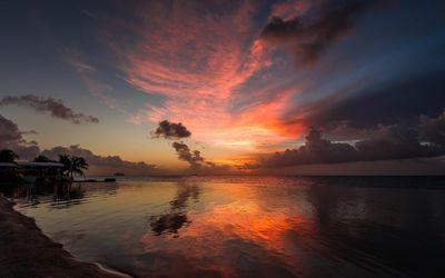Sublime ocean sunset wallpaper