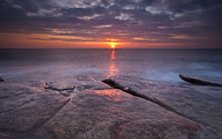 Sunrise at Hartley, Northumberland wallpaper 2560x1600 jpg