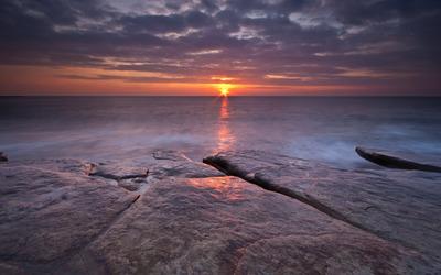Sunrise at Hartley, Northumberland wallpaper
