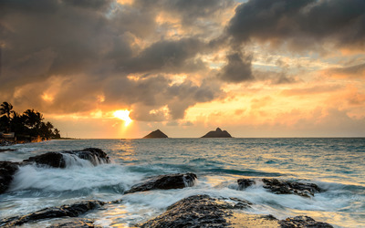 Sunrise at Lanikai Point, Hawaii wallpaper