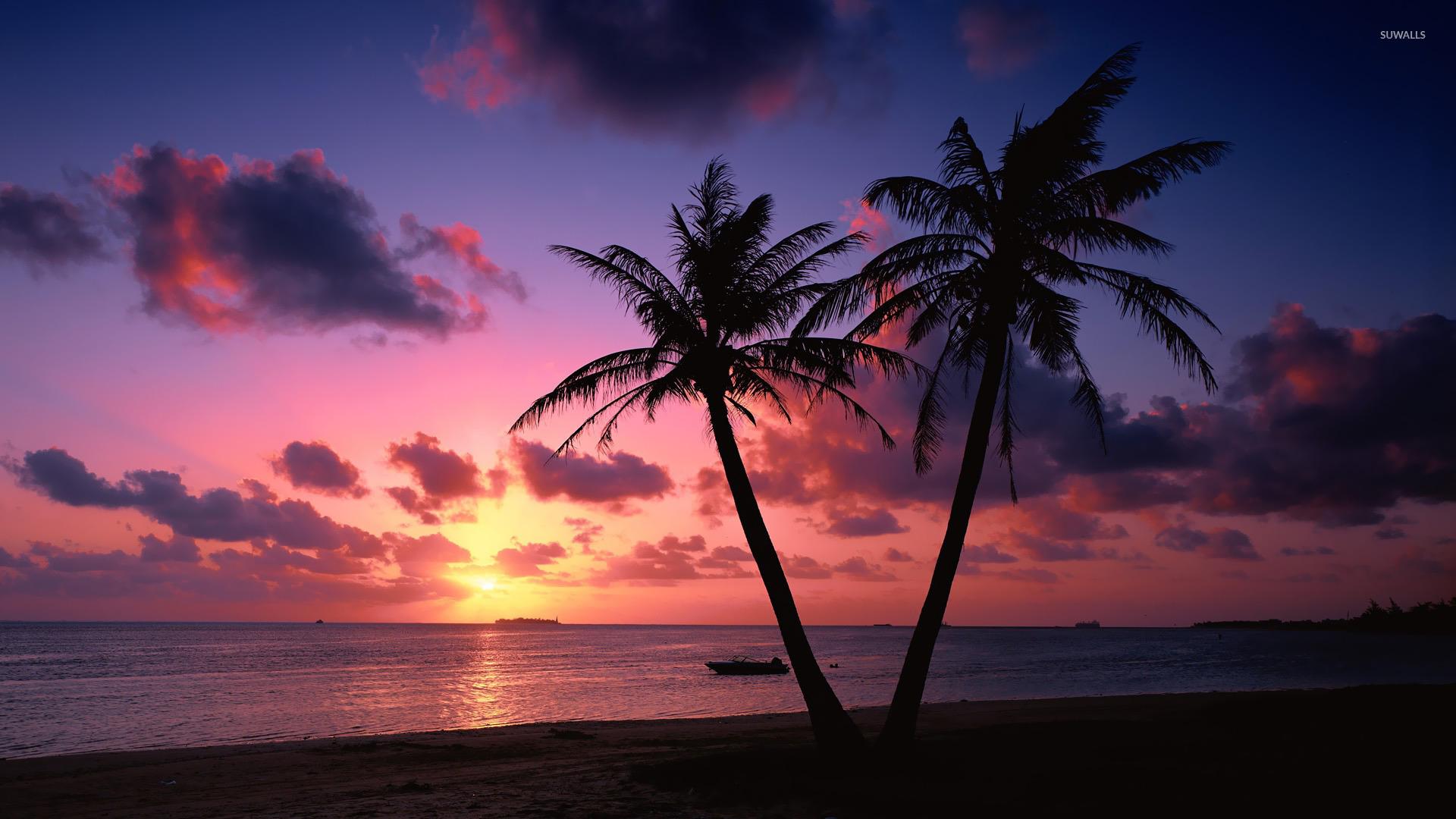 sunset wallpaper - beach wallpapers - #20538